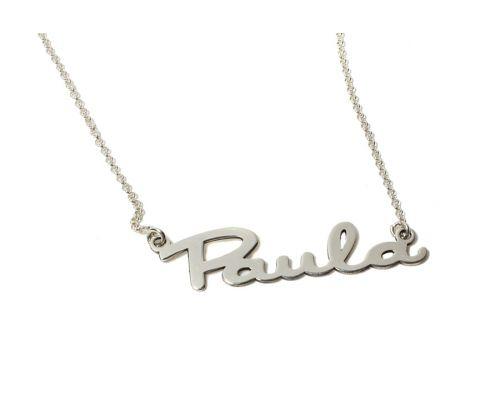 Collar personalizado con nombre en plata de ley 925 mi collar  con nombre plata