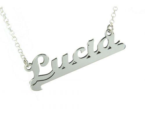 Collar personalizado con nombre en plata de ley 925 más cadena y cierres en plata de ley 925 mi collar con nombre