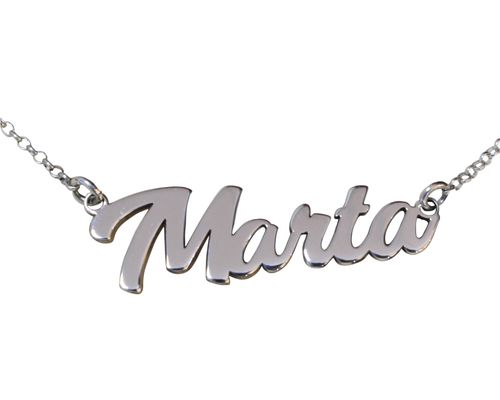 Collar personalizado con nombre en plata de ley 925 Collar de nombre plata -