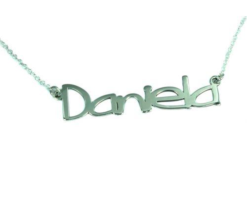 Collar personalizado con nombre en plata de ley 925 mi  con nombre plata