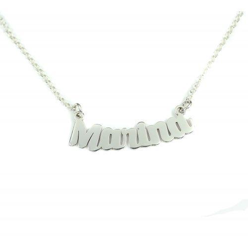 Collar personalizado con nombre en plata de ley 925 corte plata de ley mi collar con nombre